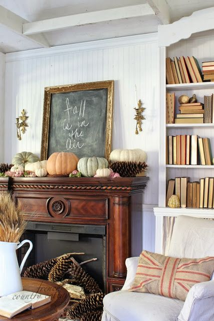 fall mantel from french country cottage