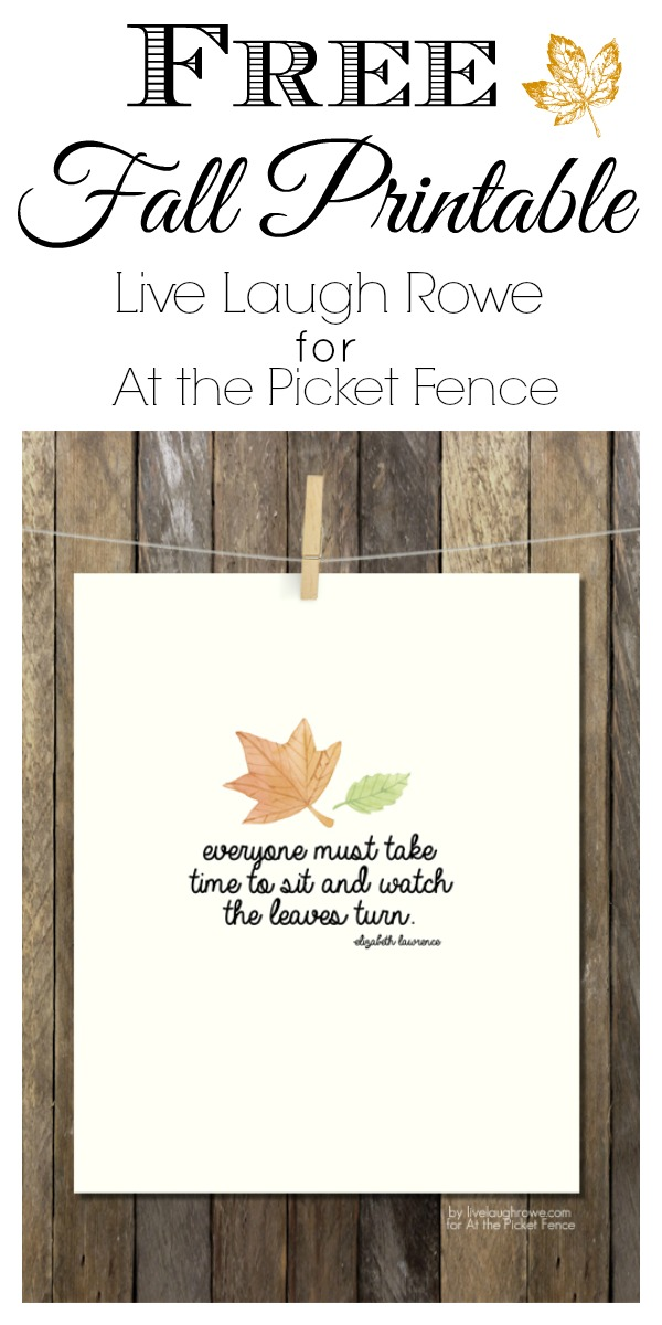 Beautiful Free Fall Printable