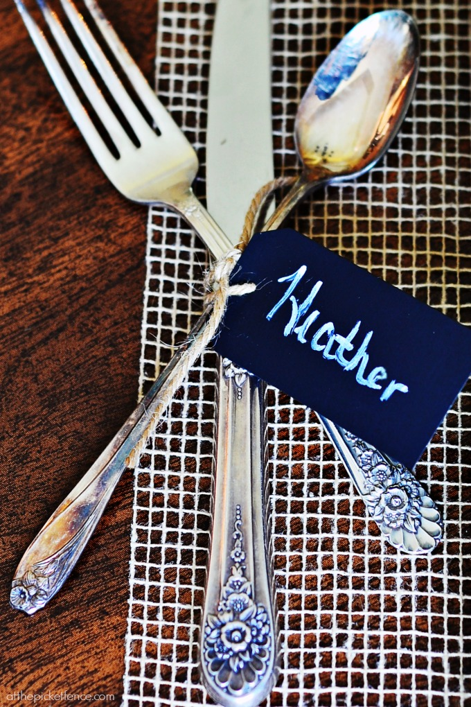 Chalkboard Tag Place Cards