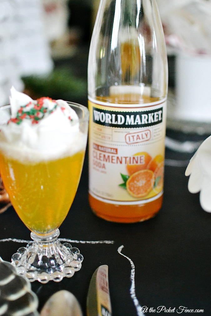 Christmas punch with clementine soda atthepicketfence.com