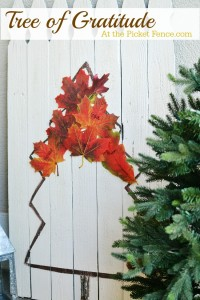 Gratitude or Thanksgiving Tree from atthepicketfence.com