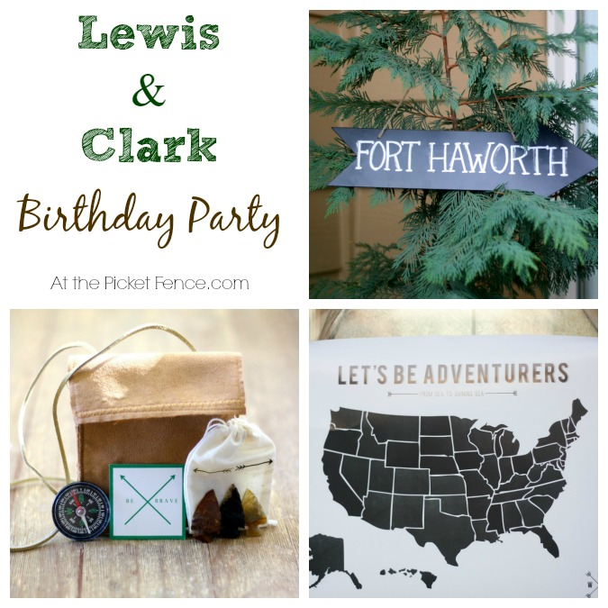 Lewis and Clark themed birthday party from atthepicketfence.com