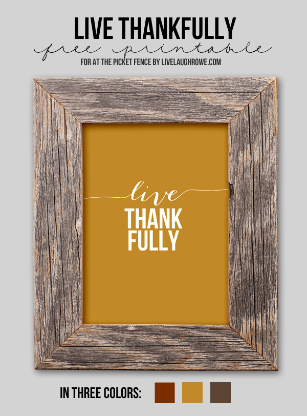 Free Thanksgiving Printable …