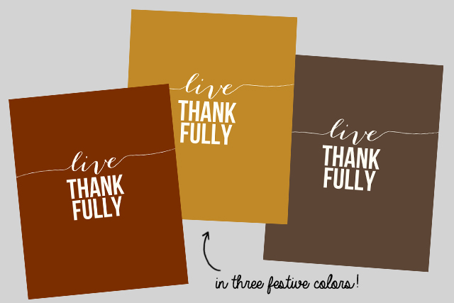 Live Thankfully. Free Thankful Printables for At The Picket Fence by Live Laugh Rowe