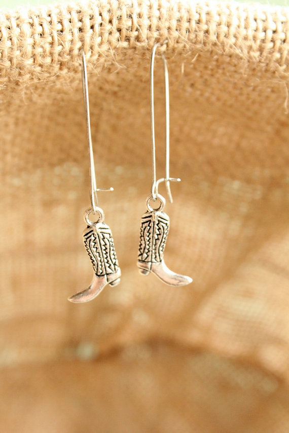 cowgirl boot earrings