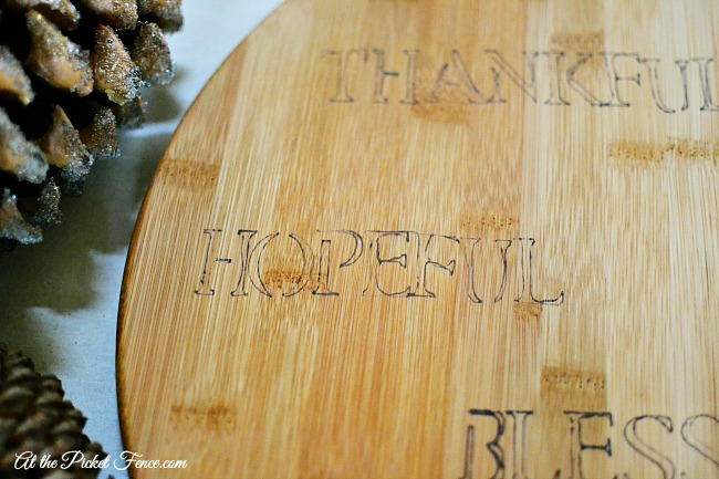 faux engraved board for thanksgiving