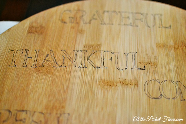 faux engraved board with sharpie pen