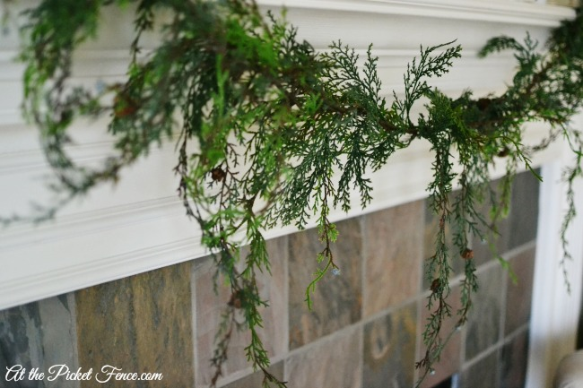 faux greenery christmas garland atthepicketfence.com