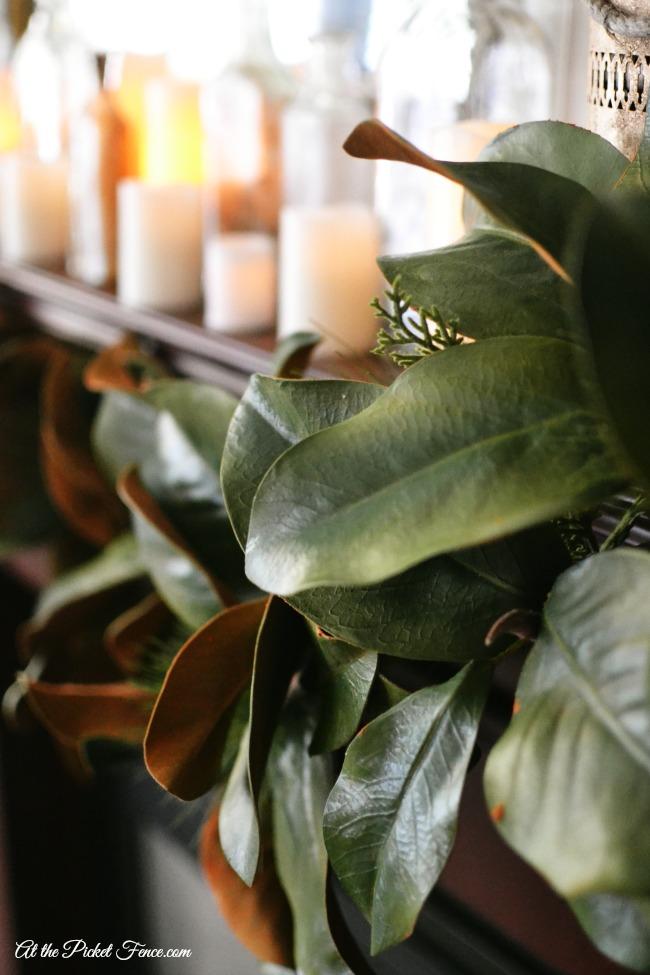 magnolia leaf garland balsam hill atthepicketfence.com