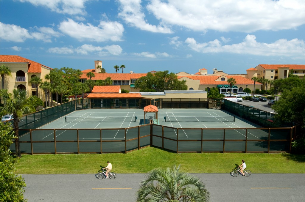 tennis courts overhead view
