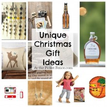 unique and creative Christmas gift ideas from atthepicketfence.com