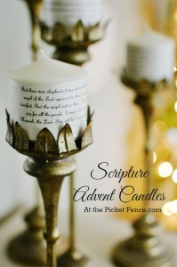 DIY scripture advent candles from atthepicketfence.com