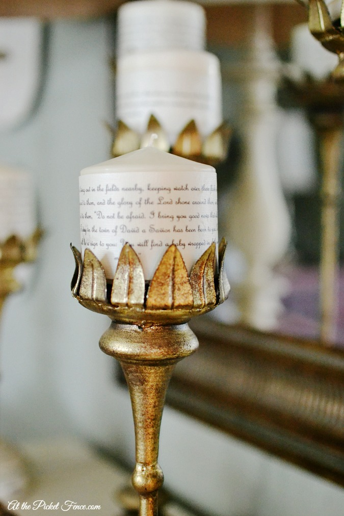 scripture advent candles from atthepicketfence.com