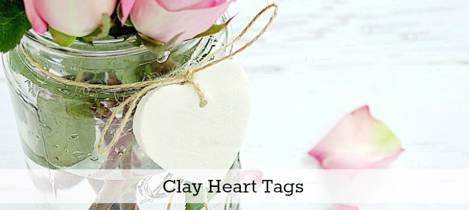 Clay heart tag slide