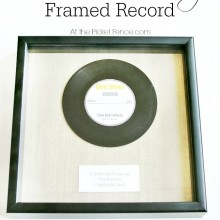Personalized our song framed record atthepicketfence.com