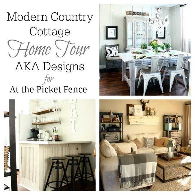 modern country cottage home tour from aka designs