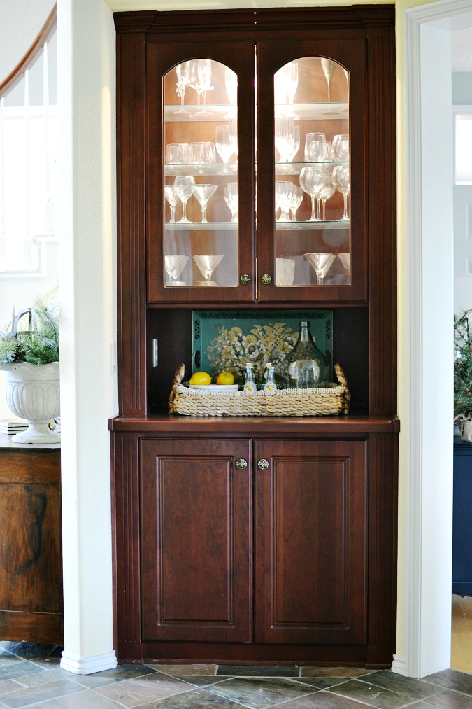 Superieur Built In China Cabinet Before