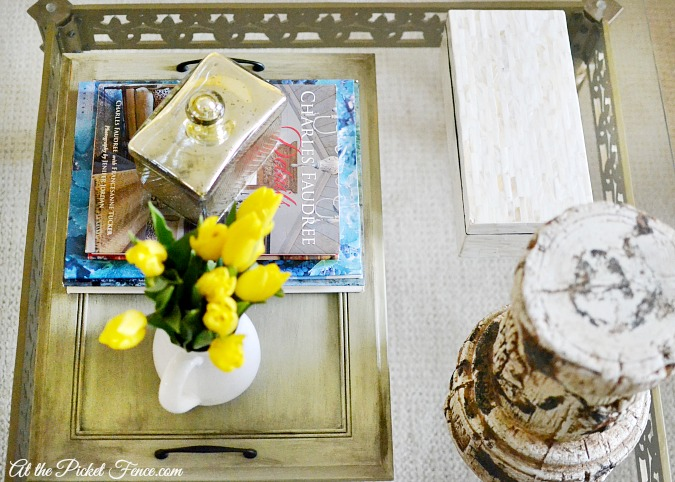 coffee table decor ideas atthepicketfence.com