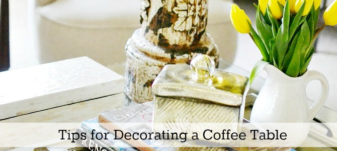 how to decorate a coffee table slide