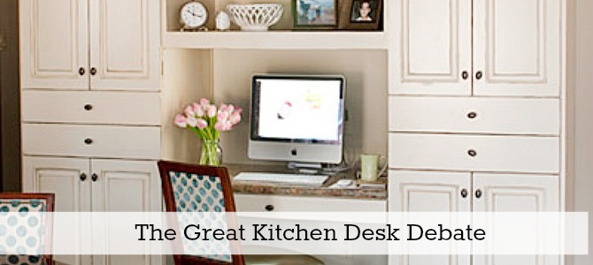 kitchen desk slide