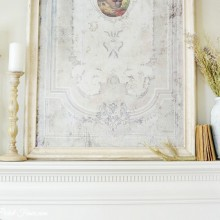 simple french country styled fireplace atthepicketfence.com