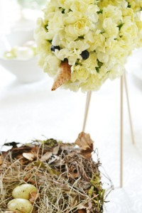 flower bird baby shower spring centerpiece