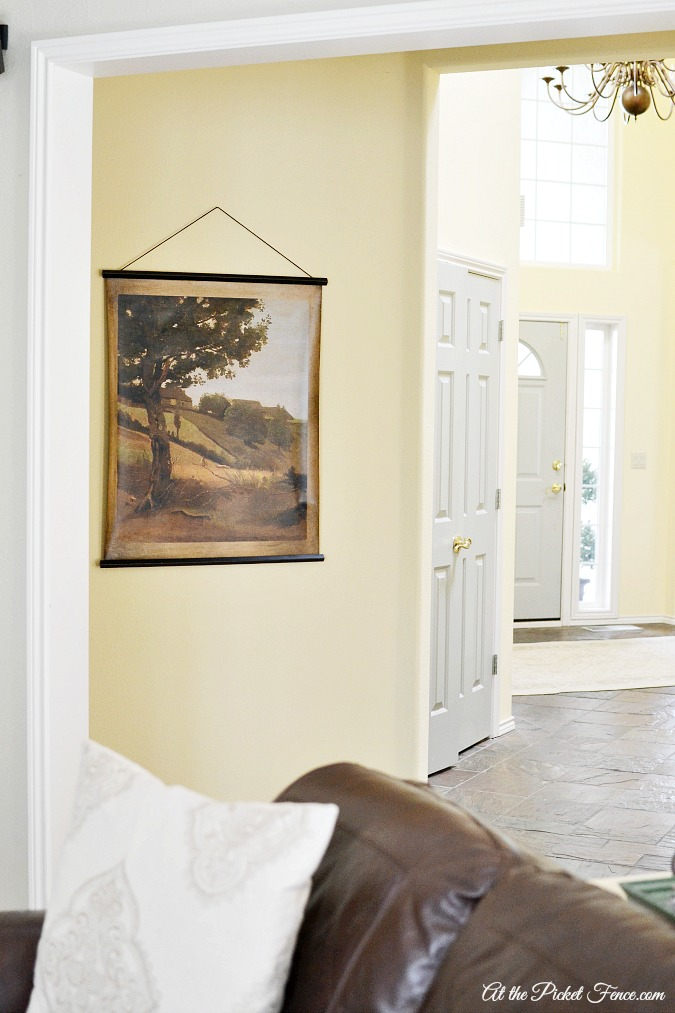 hanging landscape canvas