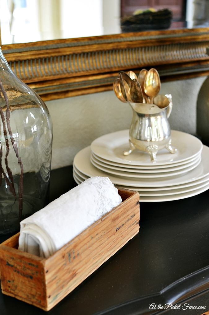 simple buffet decorating ideas for spring atthepicketfence.com