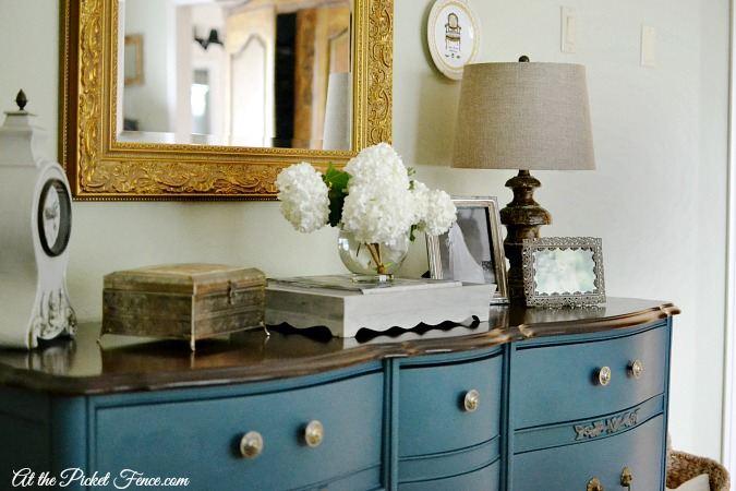 bedroom dresser with french country styling atthepicketfence.com