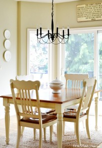 breakfast nook decor atthepicketfence.com