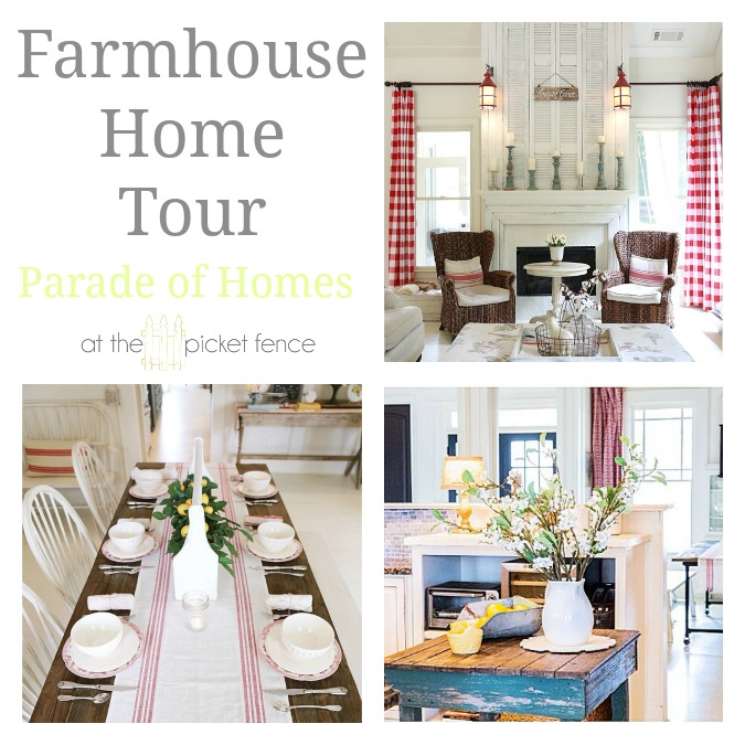 Stunning Farmhouse Home Tour from atthepicketfence.com