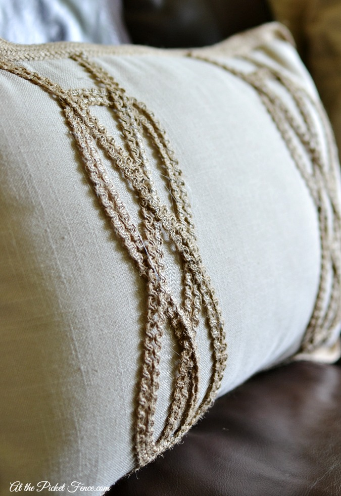 rope knot pillow diy