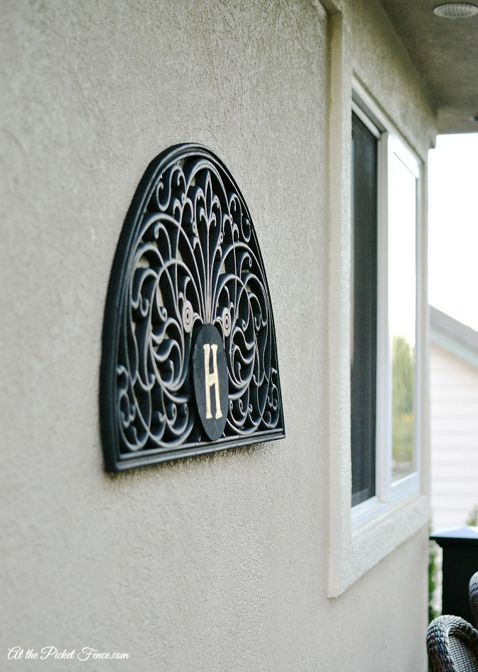 Ballard Designs wall plaque knock-off
