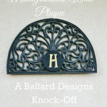 Door Mat Turned Wall Plaque Ballard Designs knock-off