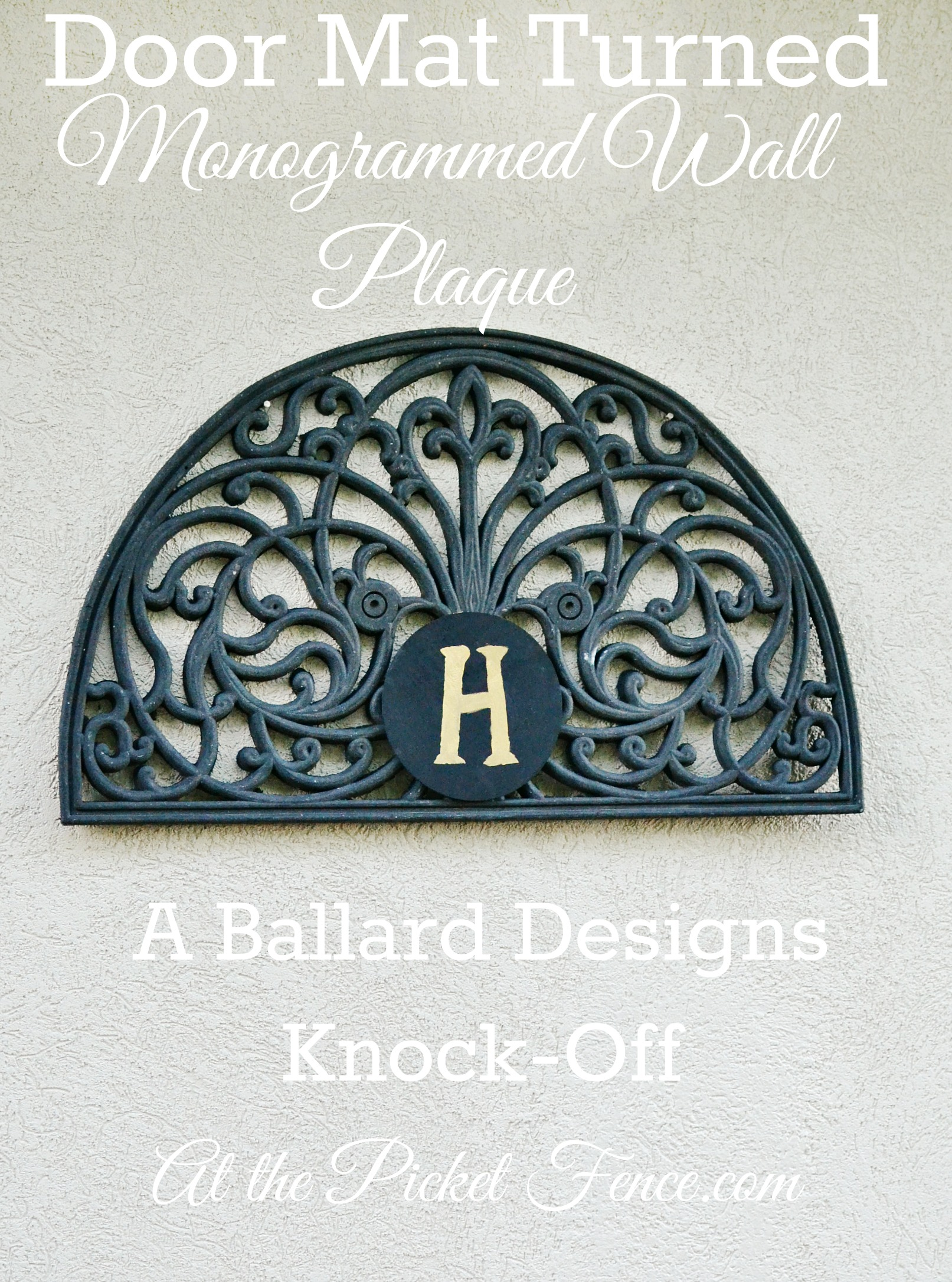 Ballard Designs Monogrammed Wall Plaque Knock-Off