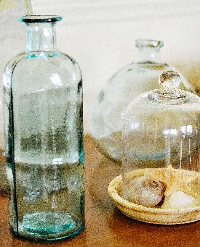 glass bottles for summer decor