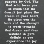 Quote about God given dreams from atthepicketfence.com