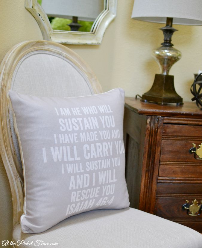 printed bible verse pillow atthepicketfence.com
