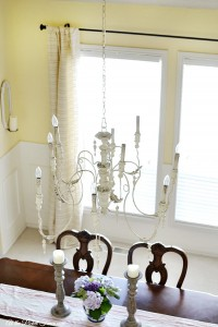 white french country chandelier atthepicketfence.com