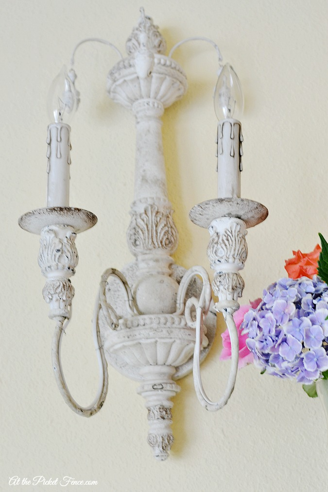 French Country Sconces At The Picket Fence