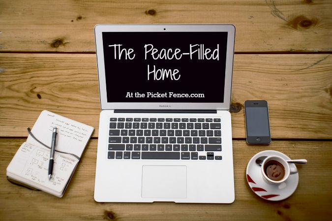 the peace filled home series from atthepicketfence.com