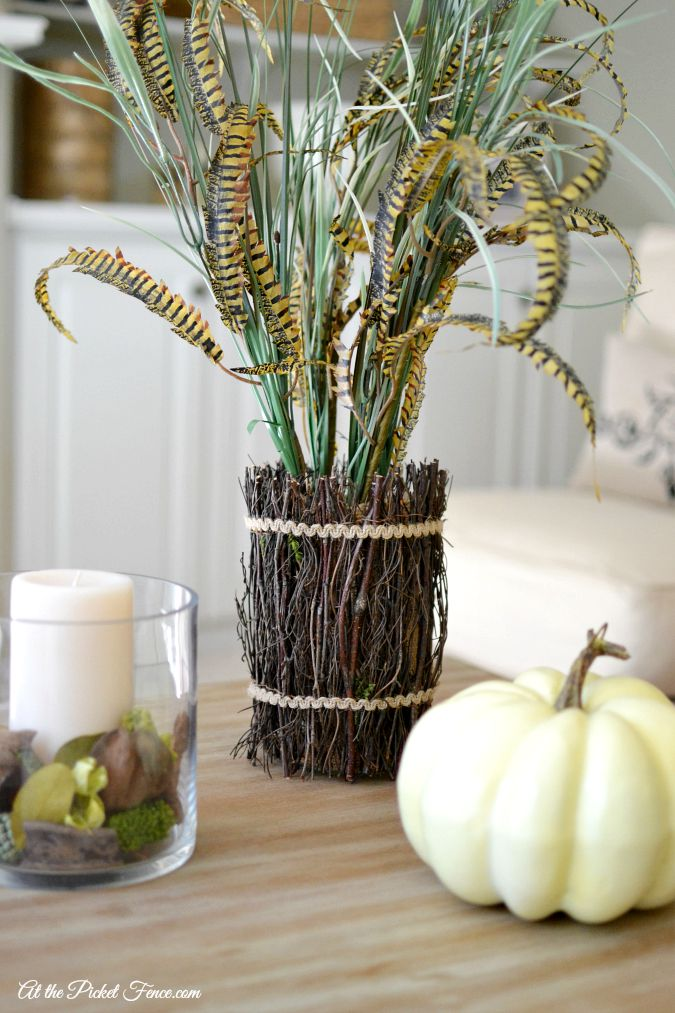 Pottery Barn Pheasant Feather Bundle Knock-Off atthepicketfence.com