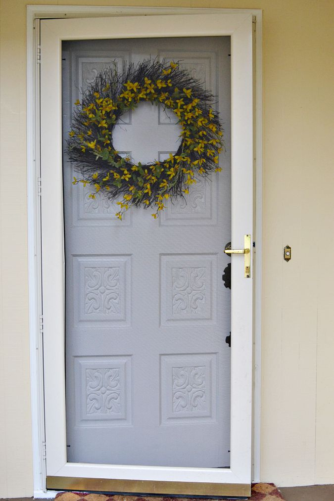 farmhouse front door before