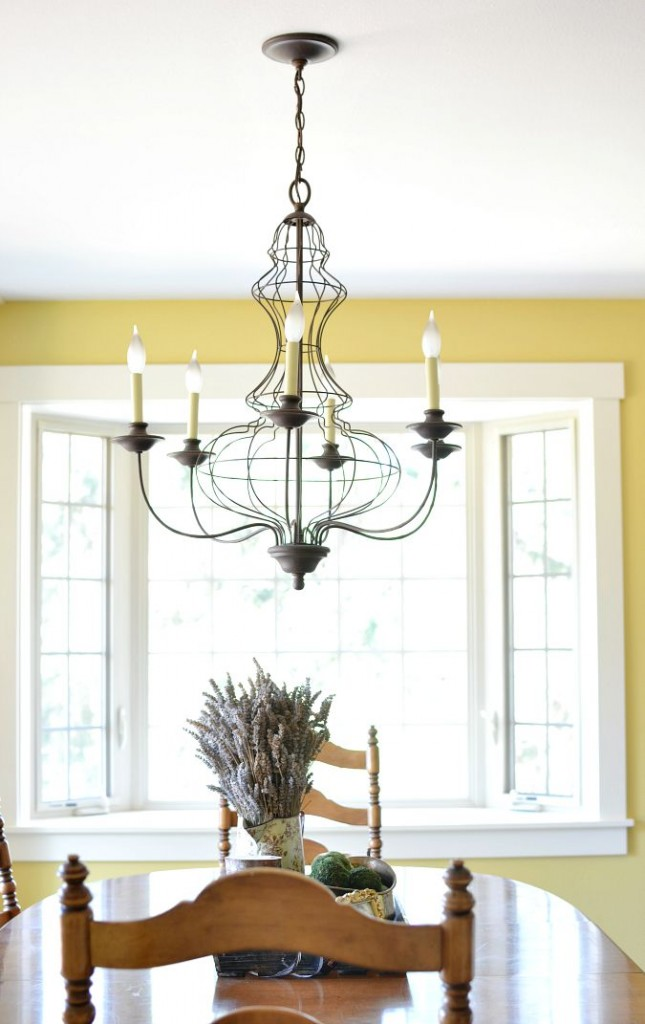 farmhouse style dining room chandelier