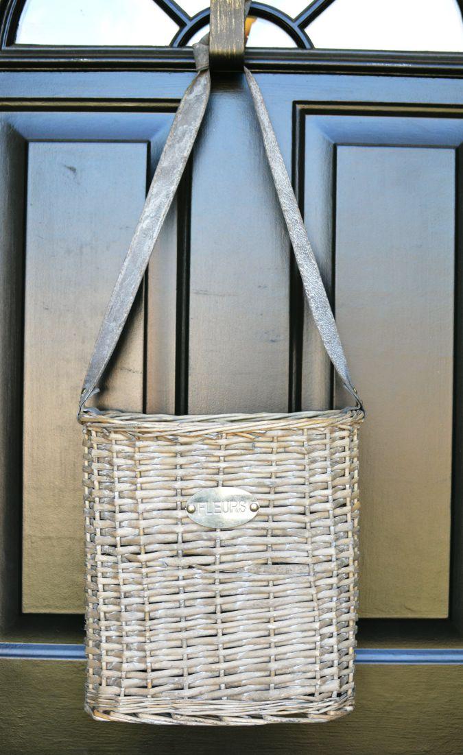 Attractive Hanging Basket On Front Door