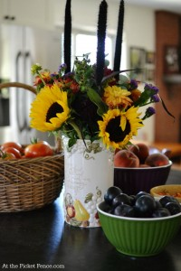 summer kitchen island bounty