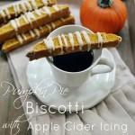Pumpkin Pie Biscotti with an Apple Cider Icing