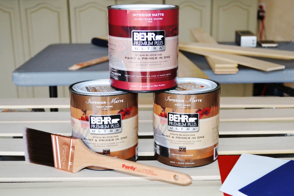 DIY Wooden American Flag Behr Paint Supplies