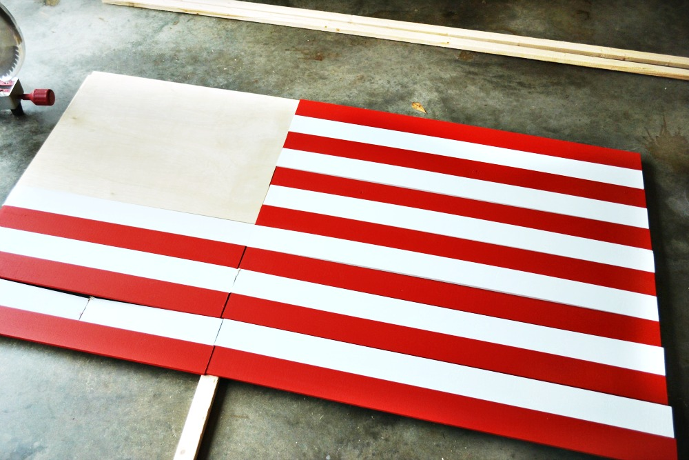 DIY Wooden American Flag tutorial 2