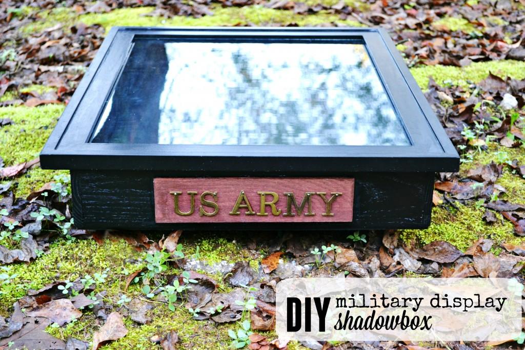Military Display DIY Shadow Box text